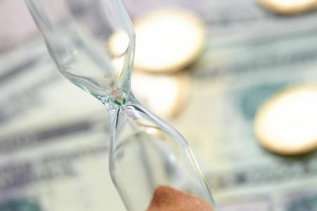 corner clock: Time of money
