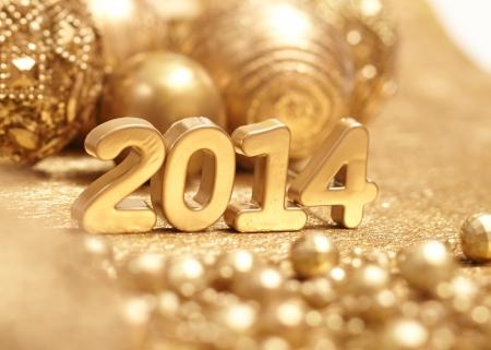 Nieuwe 2014 jaar Stockfoto