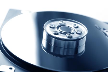 opened hard disk drive Stock Photo
