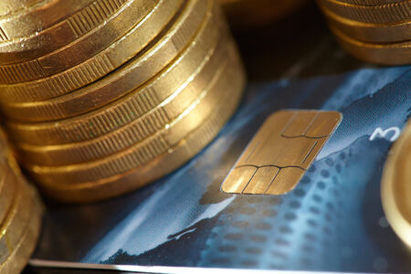 coins and credit cards photo