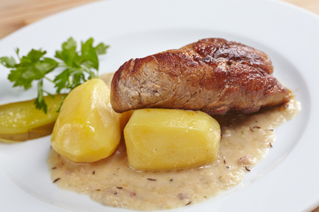 meat with potatoes photo