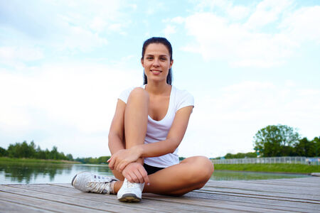 Young woman do sport photo
