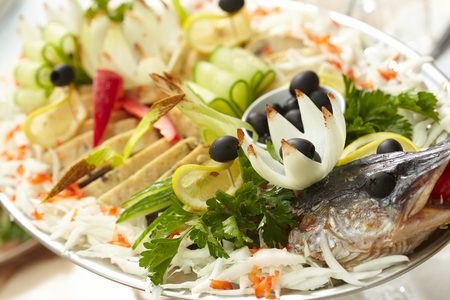 stuffed fish: stuffed fish Stock Photo