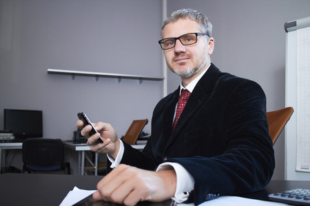 businessman with mobile phone photo