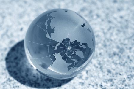 glass globe on water photo