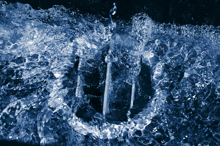 spews: water background Stock Photo