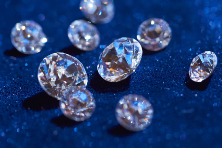 diamonds: diamonds on blue background