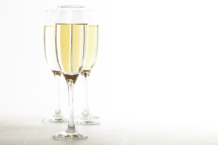 christmas bubbles: champagne glasses