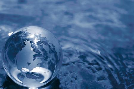 business globe: glass globe