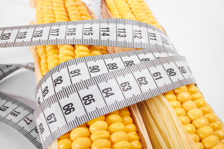 measuring tape: corn with measuring tape