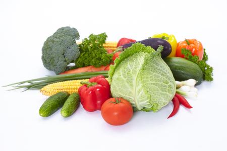 savoy cabbage: fresh vegetables Stock Photo