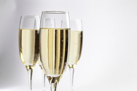 brindisi spumante: bicchieri di champagne Archivio Fotografico