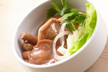 marinated: Marinated mushrooms Stock Photo