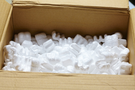 filling: packing box with white packaging filling