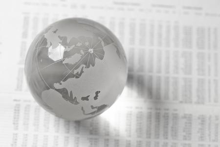 glass globe: glass globe ball