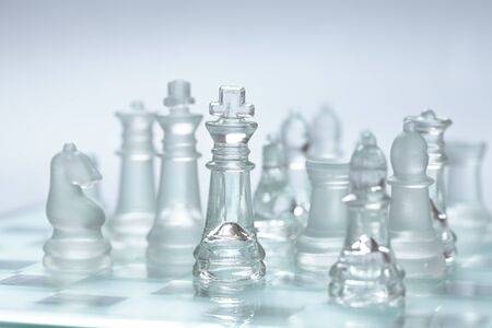 chess pieces: glass chess