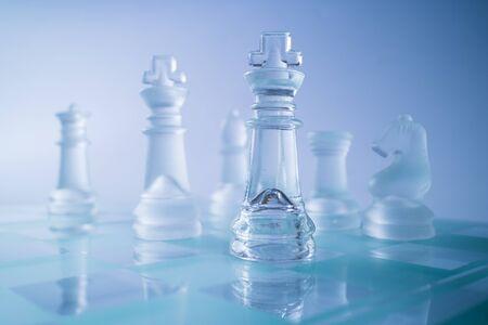 ajedrez: Ajedrez de vidrio