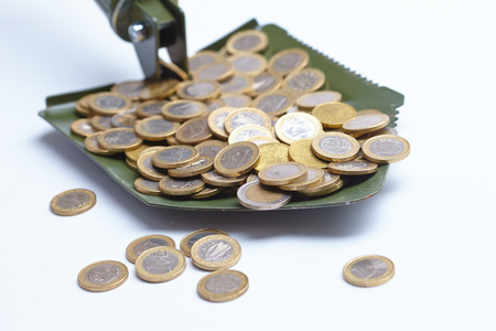 remuneraci�n: pala con el dinero