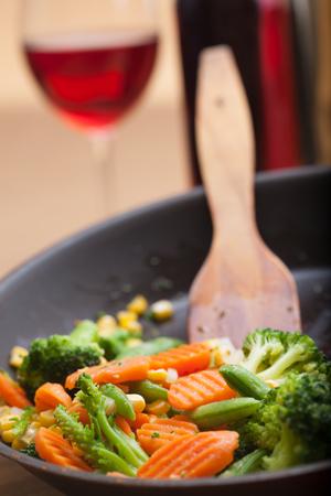 chinesisch essen: gebratene Gem�se Lizenzfreie Bilder