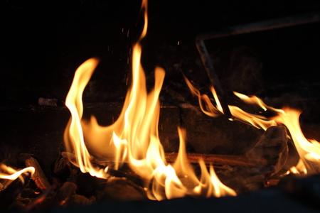 engulfed: flame Stock Photo