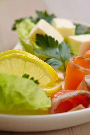 appetizer: fish appetizer Stock Photo