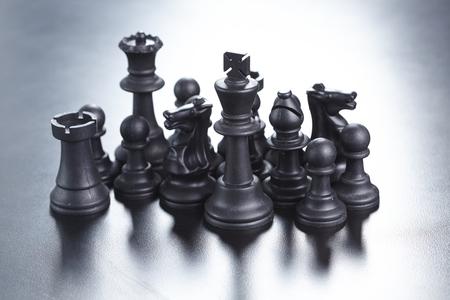 échecs noir Banque d'images