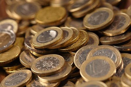 money euro: euro coins Stock Photo