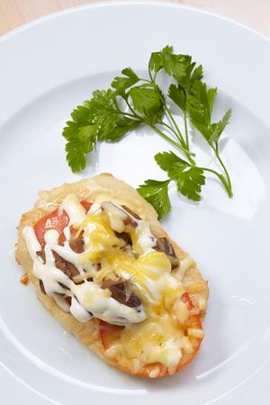 schnitzel: Schnitzel with vegetables Stock Photo