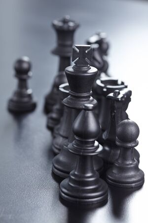 business strategy: black chess