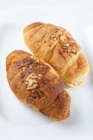 traditionally french: croissant on the white