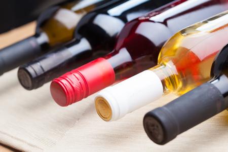 aligote: set of wine bottles