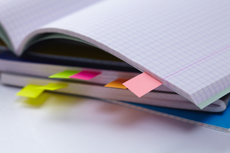assert: Business diary with a colored tabs
