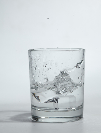 ice water: ice cubes in the water