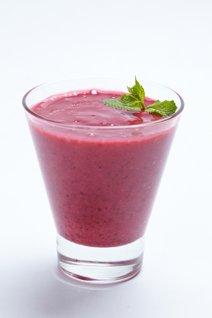 berry: berry smoothie Stock Photo