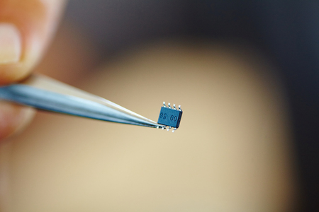 microchip: microchip with tweezers