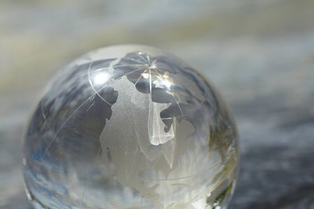 glass globe: glass globe