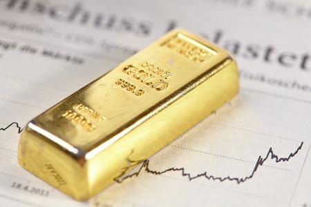 金色の概念バー