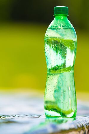 purified: water in the bottle Stock Photo