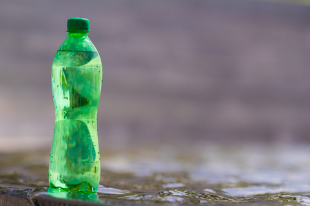 water in the bottle Stock Photo