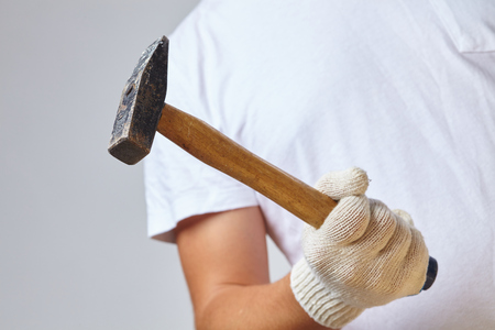 man with hammer