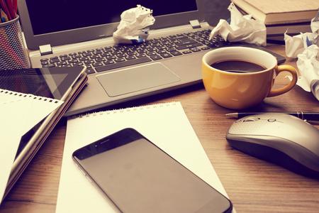 pencils  clutter: business concept