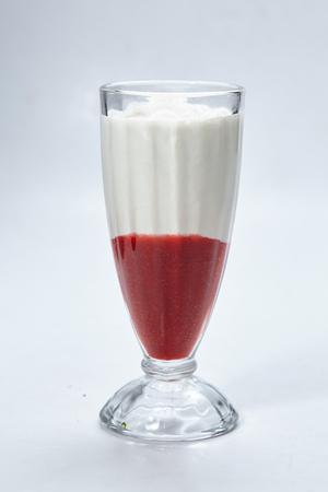 dessert with strawberries Stock Photo
