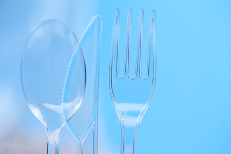 ware: Plastic silverware Stock Photo