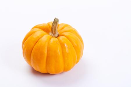 fresh pumpkins on white background