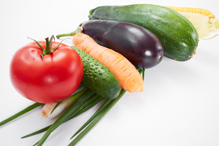 fresh vegetables on the white background Stock Photo