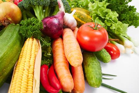fresh vegetables on the white background Stock Photo