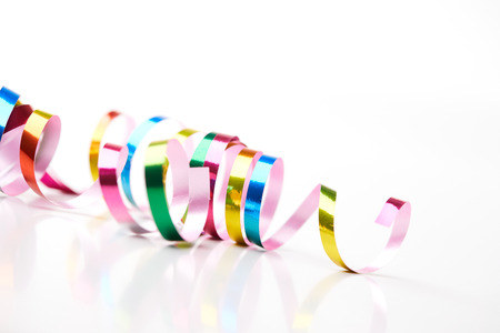 Colorful ribbon for holiday concept
