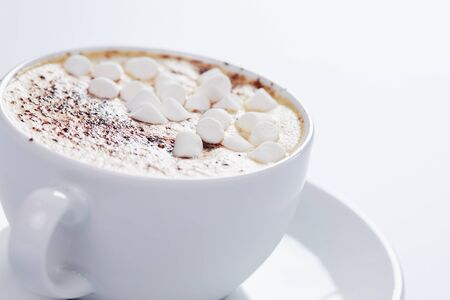 Cappuccino with marshmallow