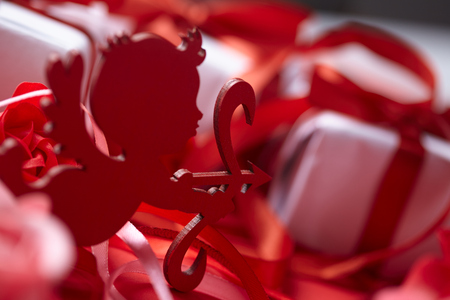 Valentines day decoration closeup Stock Photo
