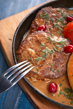 potato cutlets with meat